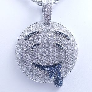 """Icy Drooling Emoji + 20"""" Rope Chains"""